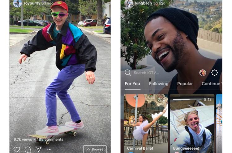 IGTV pretende dar más versatilidad a los creadores de contenidos en la plataforma (Foto Prensa Libre: Instagram News).