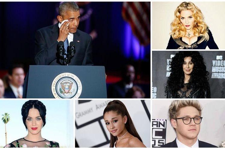 Celebridades del mundo del espectáculo envían emotivos mensajes a Barack Obama. (Foto Prensa Libre: Hemeroteca PL)