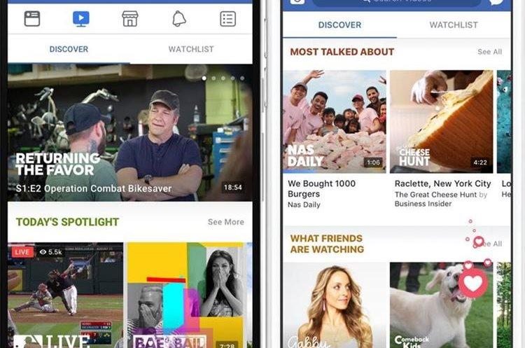"""El hecho de que un 80% de los usuarios de Facebook accedan desde sus """"smartphones"""", fue tomado en cuenta para adaptar """"Facebook Watch"""" a los móviles. (Foto Prensa Libre: Facebook)"""