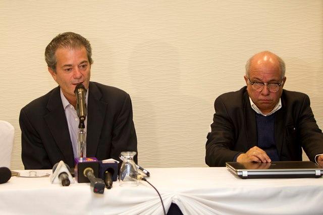 Pedro Portilla, presidente de Comunicaciones, confirmó la salida de cinco jugadores. (Foto Prensa Libre: Norvin Mendoza).