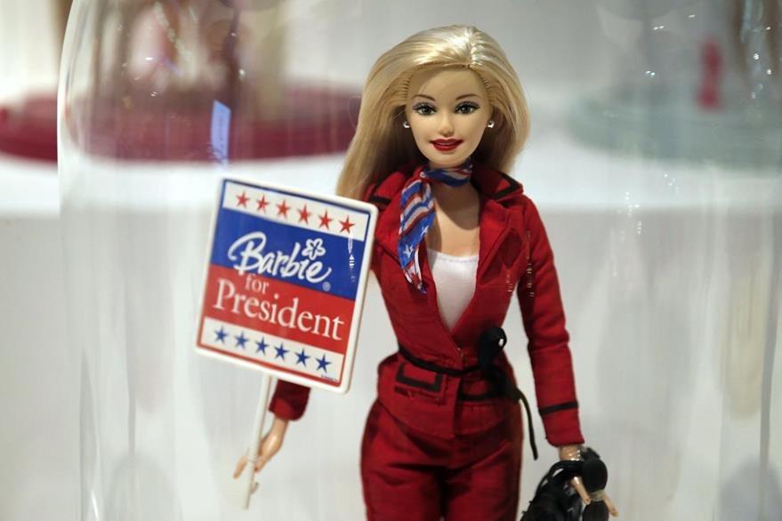 Barbie también quiere ser candidata para la presidencia de Estados Unidos.