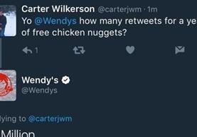 Un año de nuggets gratis, entre lo mejor del 2017 en Twitter (Foto Prensa Libre: Twitter).