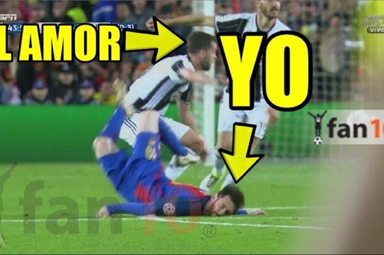Los memes del partido de vuelta de cuartos de final entre Barcelona y Juventus. (Foto Prensa Libre: Twitter)