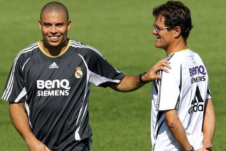 Ronaldo dijo que el técnico italiano Fabio Capello ya estaba anticuado para dirigir al Real Madrid. (Foto Prensa Libre: Hemeroteca)