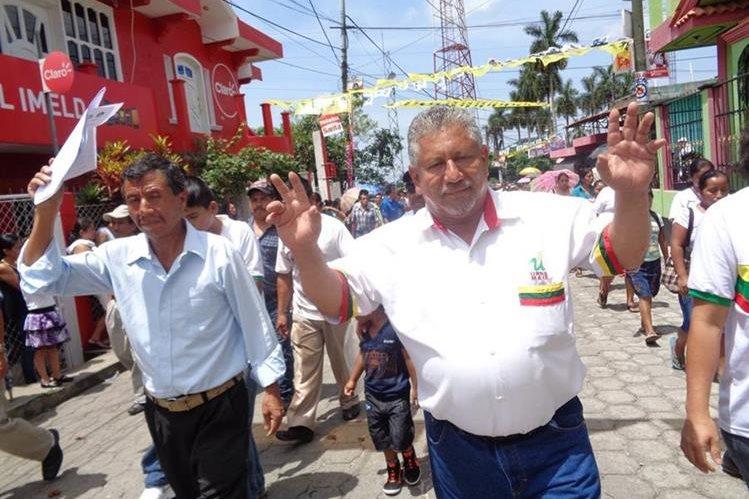 José Raúl Maldonado Pérez es candidato a la alcaldía en San Pablo, San Marcos, pese a tener orden de captura. (Foto Prensa Libre: Aroldo Marroquín)