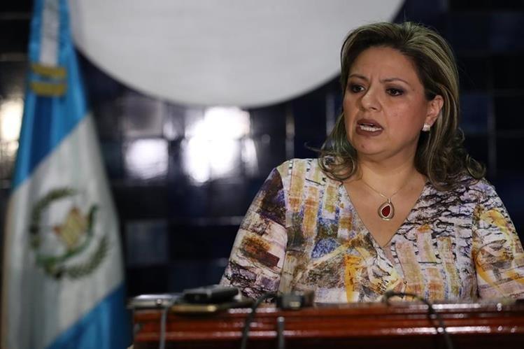 Sandra Jovel es canciller desde agosto de 2017, cuando el presidente Jimmy Morales intentó sin éxito expulsar del país a Iván Velásquez, director de Cicig. (Foto Prensa Libre: Hemeroteca PL)