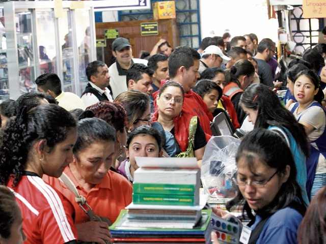 Las compras de útiles escolares son el principal movimiento comercial de enero.