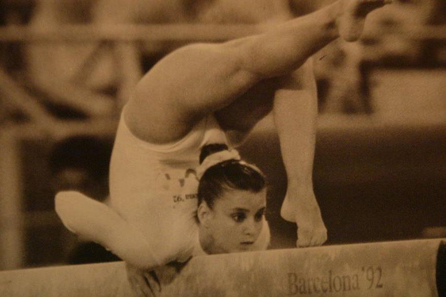 La gimnasta guatemalteca Luisa Fernanda Portocarrero durante su participación en los Juegos Olímpicos de Barcelona 1992. (Foto: Hemeroteca PL)