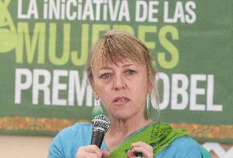 Jody Williams, premio Nobel 1997.