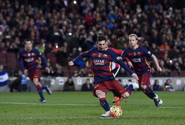 Lionel Messi no sería titular en el juego de ida, de la Copa del Rey, contra el Athletic de Bilbao. (Foto Prensa Libre: AFP)