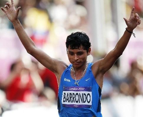 Érick Barrondo, en los Juegos de Londres 2012. (Foto Prensa Libre: Hemeroteca PL)