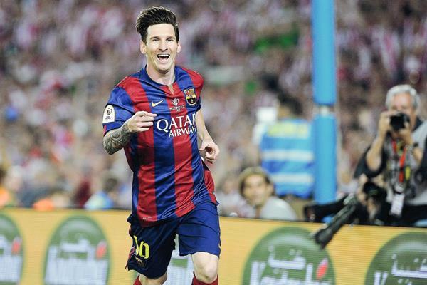 Lionel Messi espera poder celebrar el sábado ante la Juventus. (Foto Prensa Libre: AFP)