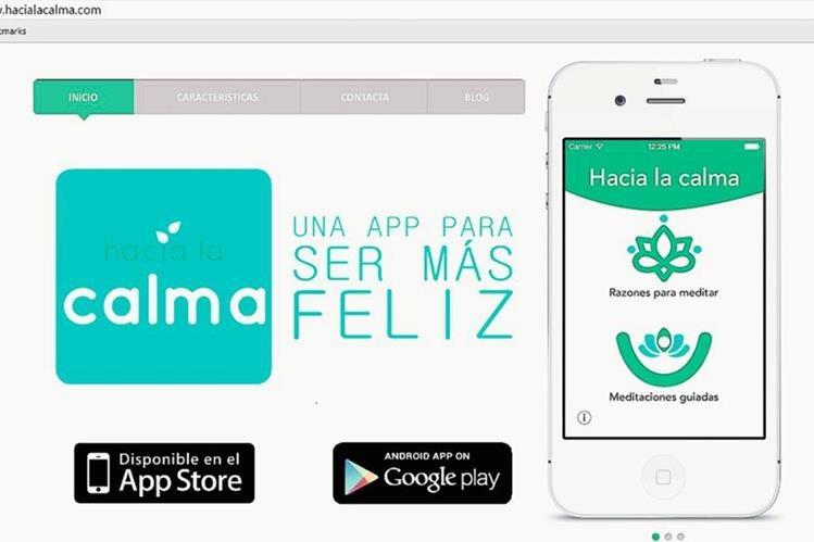Hacia la  calma, es una aplicación de meditación que permite al usuario descansar la mente y sacudir el estrés. (Foto Prensa Libre: Hemeroteca PL).