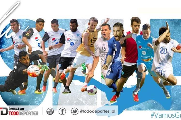 Estos serían los 11 elegidos por el técnico Walter Claverí para enfrentar a Estados Unidos este viernes en el Mateo Flores. (Foto Prensa Libre: Hemeroteca)