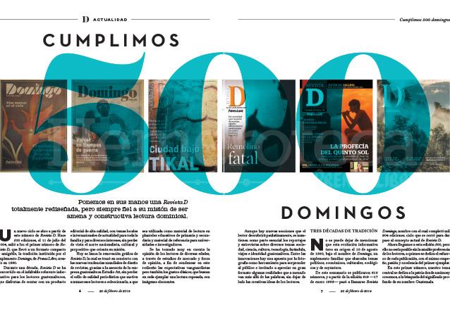 Revista D cumplió los 500 números el 23 de febrero de 2014. (Foto: Hemeroteca PL)