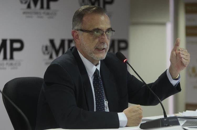 Comisionado de la Cicig en una conferencia de Prensa en el Ministerio Público. (Foto Prensa Libre: Hemeroteca PL)