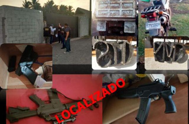 El Mingob publicó esta fotografía junto con la información de los allanamientos. (Foto Prensa Libre: Mingob)