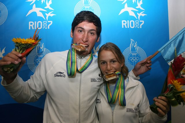 Juan Ignacio Maegli se coronó campeón Panamericano en el 2007, en hobie Cat, junto a Cristina Guirola. (Foto Prensa Libre: Fernando López)