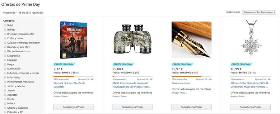 Algunos de los artículos más buscados durante el Amazon Prime Day. (Foto Prensa Libre: Amazon)