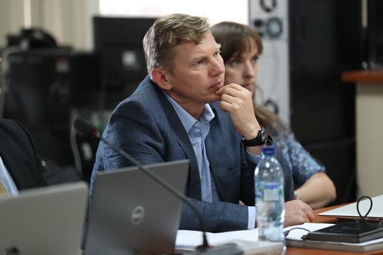Tribunal de Mayor Riesgo D, declaró abierto el debate contra el ruso Igor Bitkov, implicado en el caso Migración. (Foto Prensa Libre: Carlos Hernández)