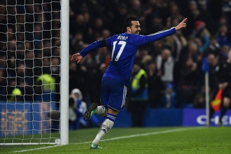 Pedro tuvo un partido inspirado y con un doblete contribuyó al triunfo del Chelsea sobre Newcastle. (Foto Prensa Libre: AFP).