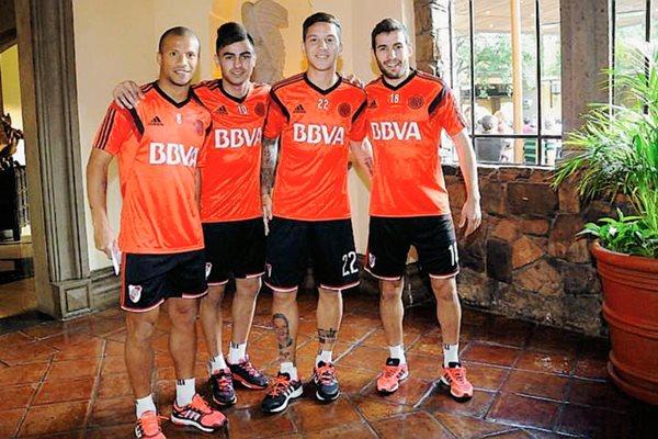 Los jugadores de River Plate ya están en México. (Foto Prensa Libre: River Plate)