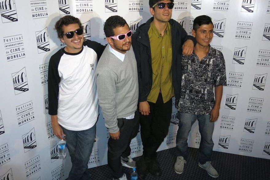 Al festival asistieron el actor Eduardo Martinez, el director Julio Hernandez Cordon, y los protagonitas de la película Diego Calva y Erwin Alvarado. (Foto Prensa Libre: AP)