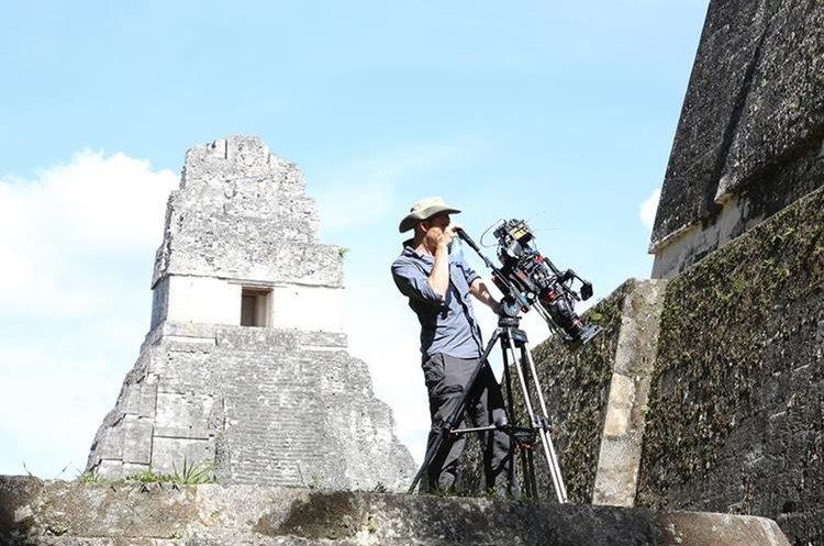 El equipo de Freeman filmó en el centro de Tikal.