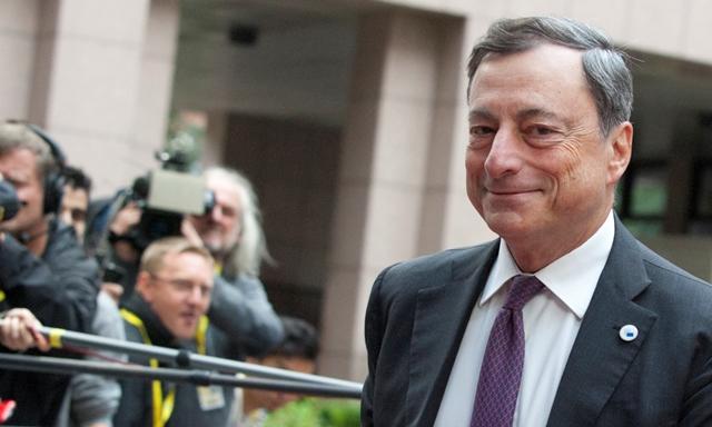El director del Banco Central Europeo, Mario Dragui. (Foto Prensa Libre: AP).