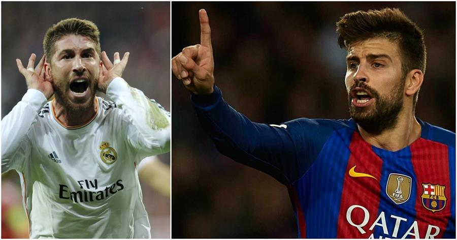 Sergio Ramos y Gerard Piqué vuelven a ser protagonistas en las redes sociales. (Foto Prensa Libre: Hemeroteca PL)