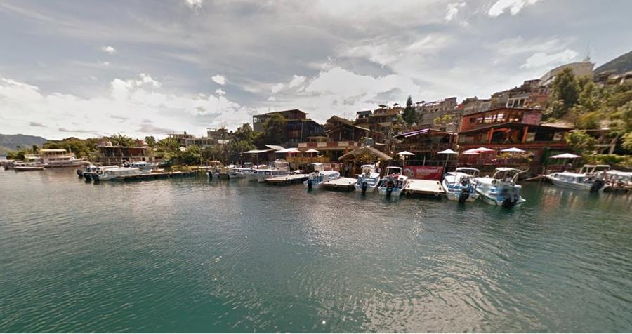 Una vista de Google de Atitlán. (Foto Prensa Libre: Google)