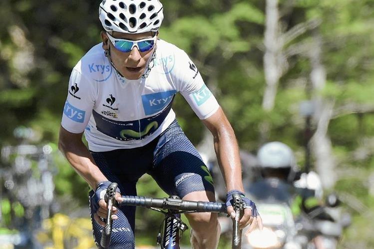 Nairo Quintana tiene como objetivo pedalear fuerte para hacerse del suéter amarillo en el Tour de Francia. (Foto Prensa Libre: AFP)