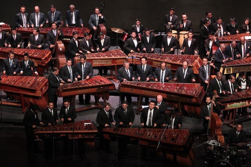 La marimba es un elemento que fusiona la guatemalidad.  (Foto Prensa Libre: Edwin Castro).