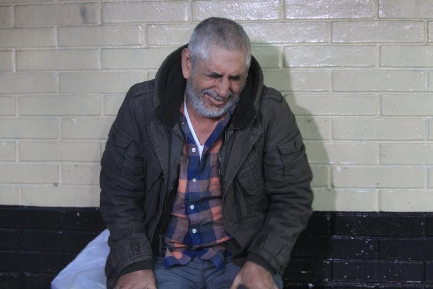 Brayan Jimenez llora cuando es llevado a la Torre de Tribunales, luego de su captura en la zona 14. (Foto Prensa Libre: Hemeroteca PL)