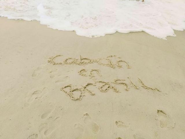 Christian recuerda a su Cobán en las playas de Río de Janeiro. (foto Prensa Libre: McDonald
