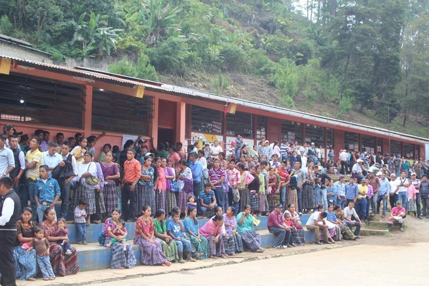 Lugares de votaciones en Cobán. (Foto Prensa Libre: Hemeroteca PL)