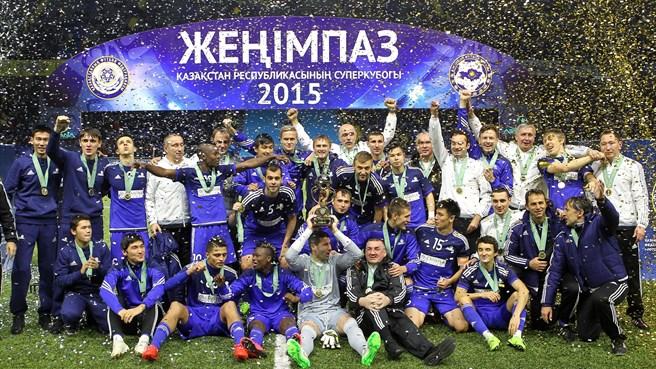 El Astaná festejó a lo grande el título de campeón de la Supercopa kazaja. (Foto Prensa Libre: Uefa.com)