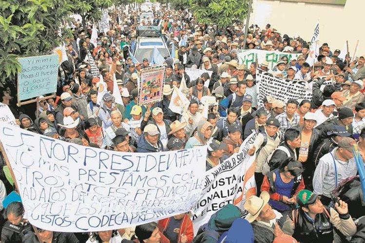 Organizaciones preparan una marcha en cuatro columnas que partirán desde puntos clave de la capital; en rutas habrá plantones. (Foto Prensa Libre: Hemeroteca PL)