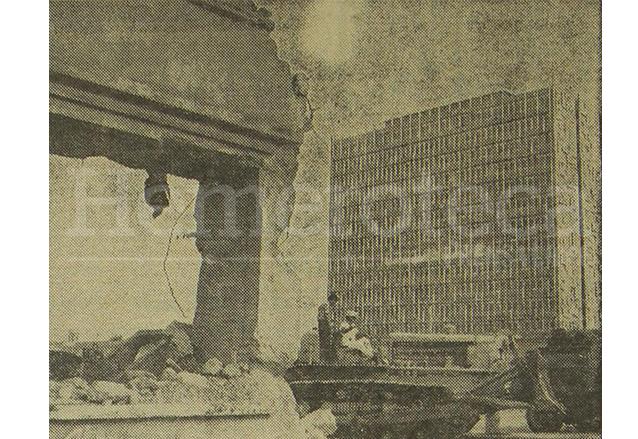 La vieja Penitenciaría fue demolida en 1968, al fondo puede observarse el edificio del Banco de Guatemala. (Foto: Hemeroteca PL)