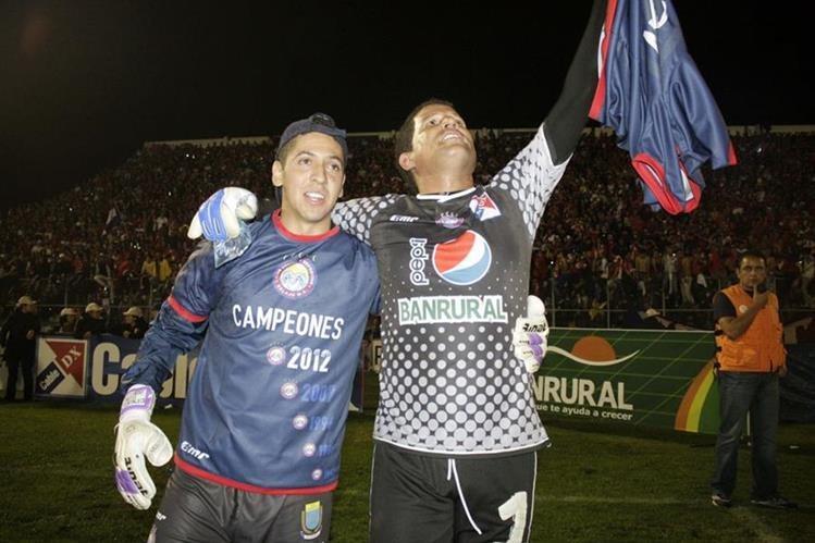 Patterson se convirtió en héroe el 19 de mayo del 2012 cuando se coronaron campeones contra Municipal. (Foto Prensa Libre: Carlos Ventura)