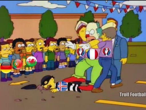 Islandia no pudo detener el poderío francés. (Foto Prensa Libre: Twitter)