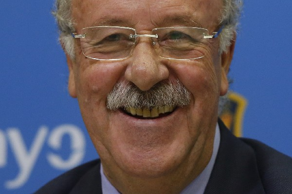 Vicente del Bosque está de fiesta. (Foto Prensa Libre: EFE)