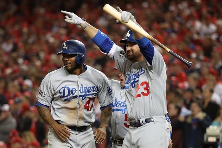 Los Dodgers avanzan a la siguiente ronda de la Liga Nacional. (Foto Prensa Libre: AFP)