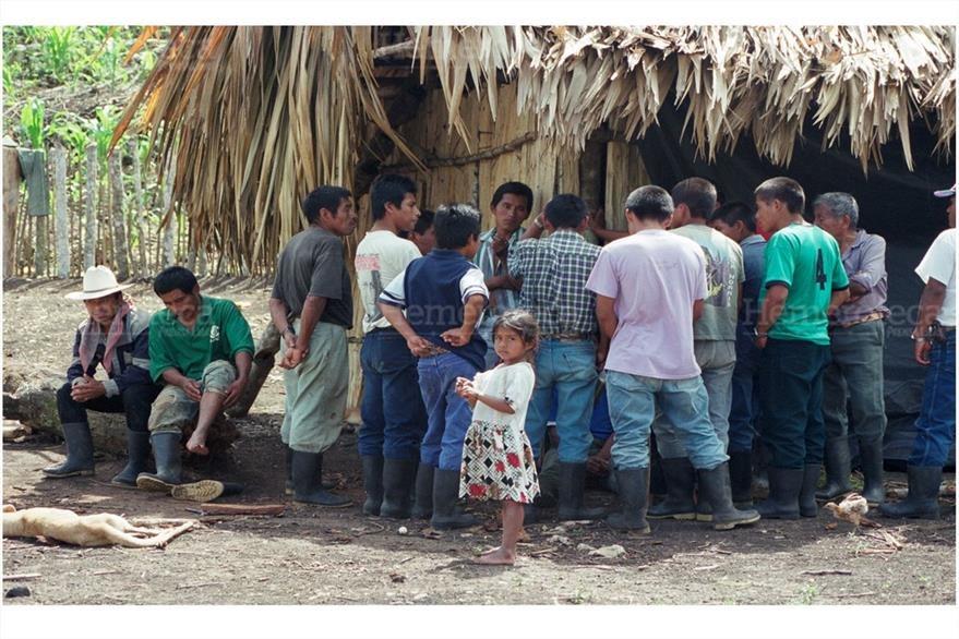 Comunidad Palo Blanco, Petén ubicada en la línea de adyacencia entre Guatemala y Belice. (Foto: Hemeroteca PL)