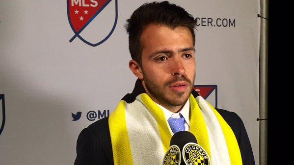 Rodrigo Saravia jugará con el Columbus Crew de la MLS en la temporada 2016-2017.(Foto Prensa Libre: Cortesía Columbus Crew)