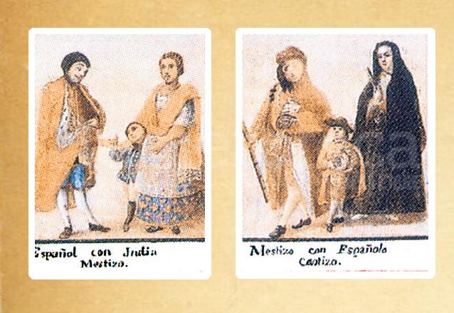Pinturas mexicanas de castas, algunas de las cuales fueron aplicadas en Guatemala. (Foto: Hemeroteca PL)