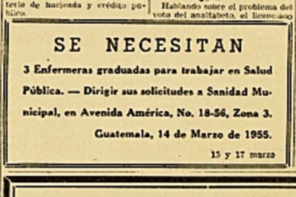 Anuncio de  Salud Pública, del 15 de marzo de 1955 (Foto: Hemeroteca PL)