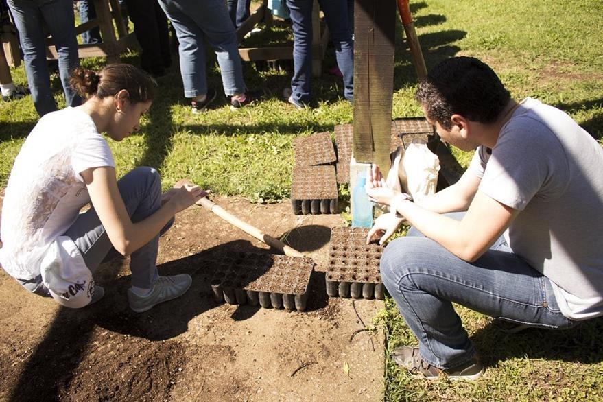 Este domingo se obtuvieron insumos para sembrar 2 mil árboles. (Foto Prensa Libre: Gildaneliz Barrientos).