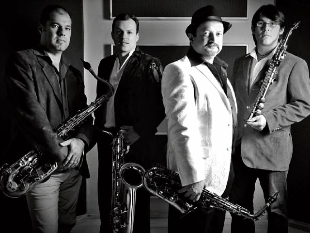 El 16 de marzo será el turno del cuarteto costarricense de saxofonistas InSax. (Foto Prensa Libre: InSax)