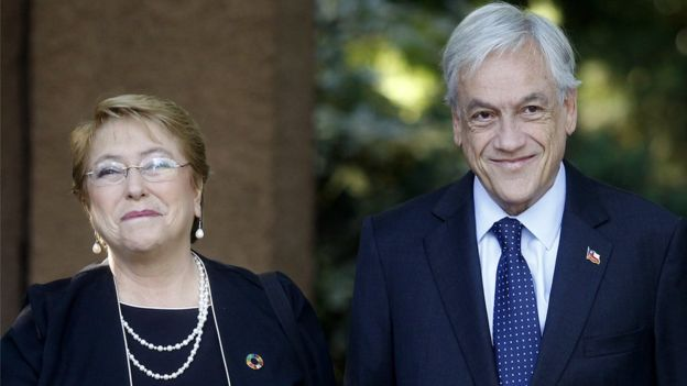 Michelle Bachelet y Sebastían Piñera han alternado en el gobierno de Chile desde 2006. Piñera fue nuevamente electo para el periodo 2018-2022. (Getty Images).